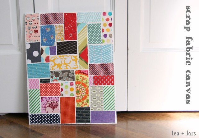 scrap fabric canvas