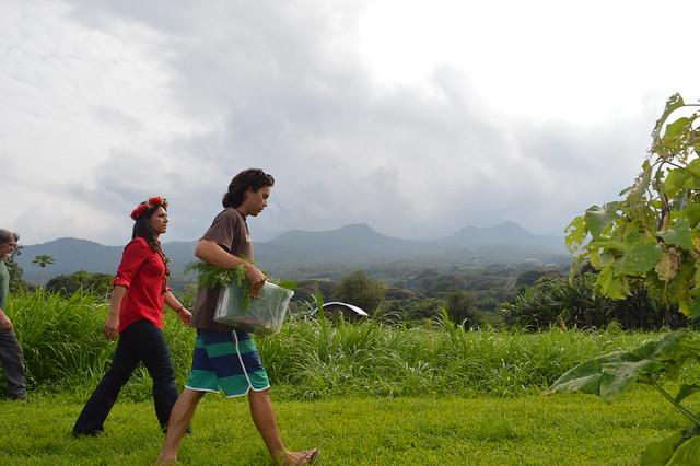 Touring Kahele Farm