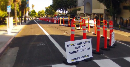 bike lane open during construction