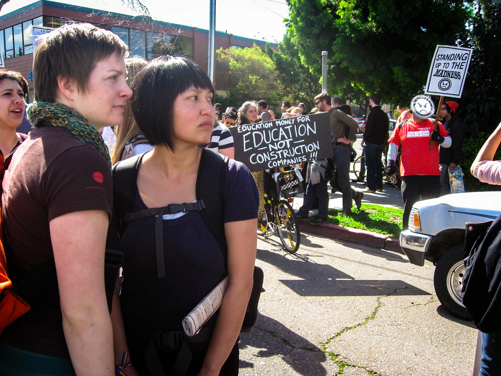 """March Forth"" protest in Berkeley, Calif. on March 4, 2010."