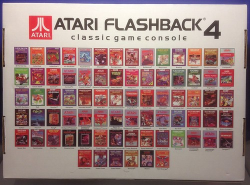 Atari Flashback 4 games by SacredKnightOfTomorrow