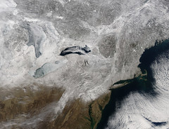 Snow in northeastern United States
