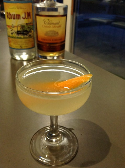Daiquiri No.2: J.M rhum agricole, lime juice, simple syrup, Clément créole shrubb, orange juice