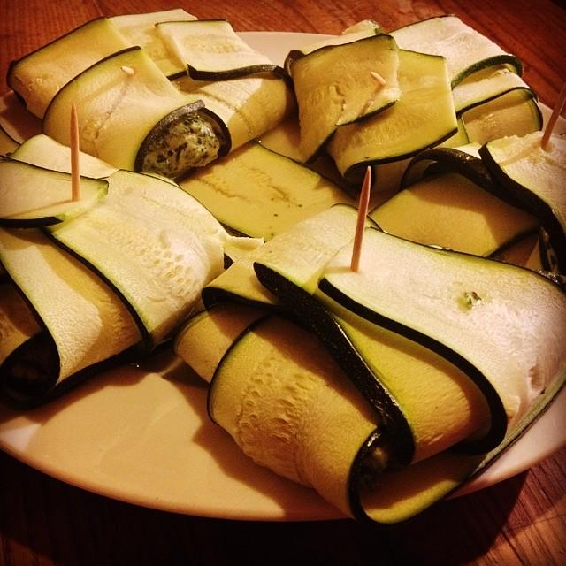 raviolis de courgette aux épinards