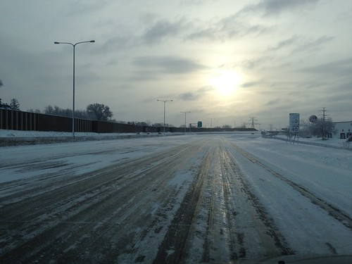 Deserted Interstate 694