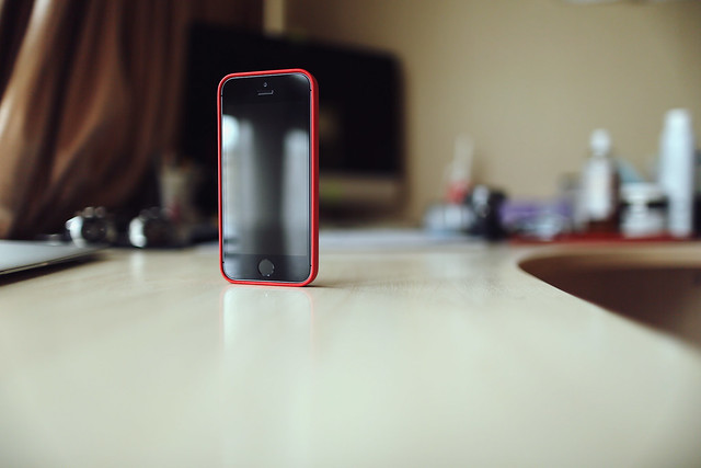 Apple (Product) RED Leather Case