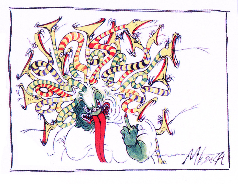 Gerald Scarfe - Hercules Conceptual Paintings 22