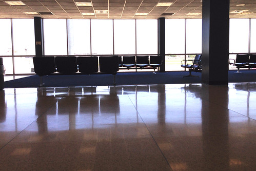 Not much happening at Dallas Love Field.