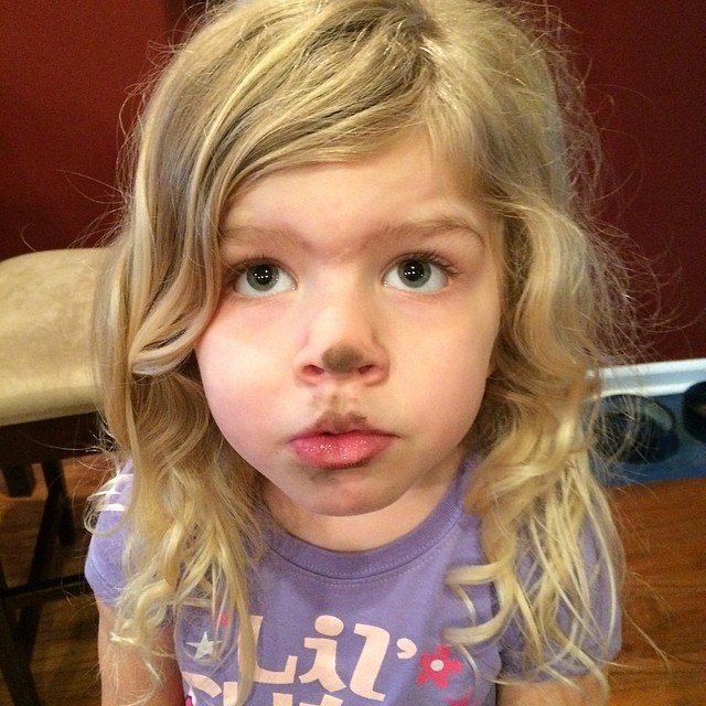What's on your face? Nothing, Mama.  #nofilter #justdirt