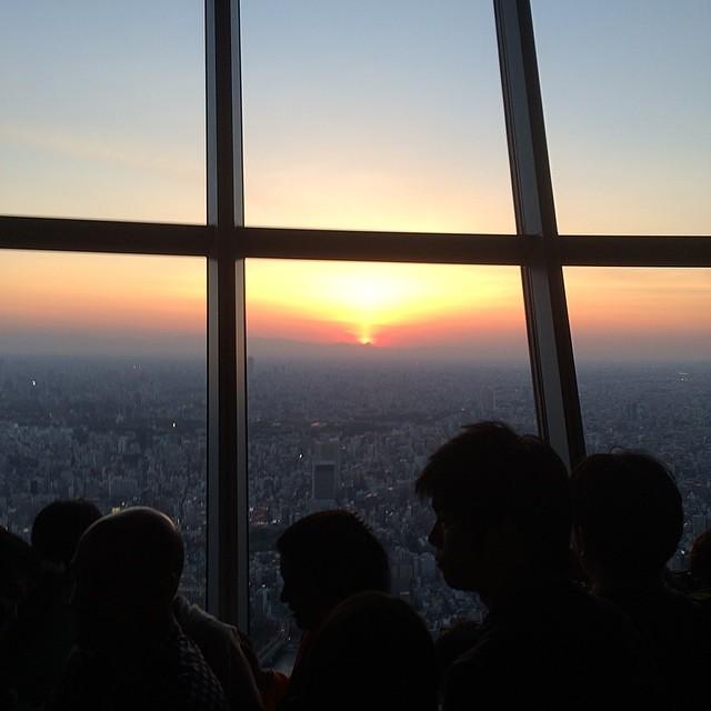Photo:計画性なく登ったがラッキーサンセット By Dai44