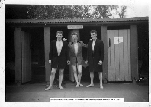 Teddyboys at Outdoor Pool
