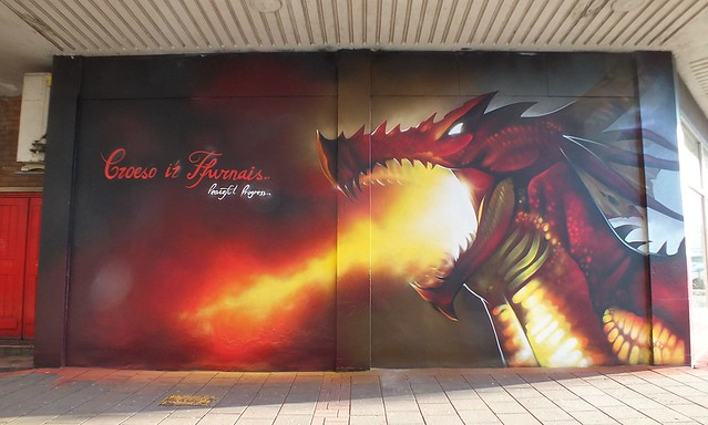 Dragon street art by Peaceful Progress