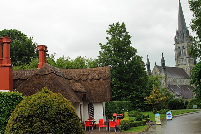 thatched and cathedral