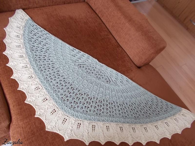 Vanilla Orchid, knitting, shawl, (2)