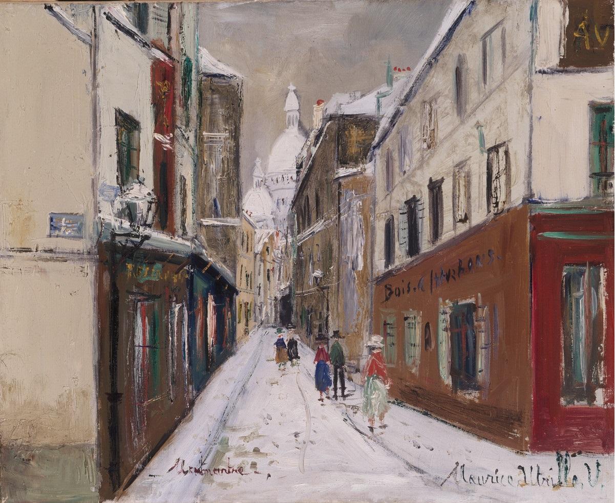 Utrillo, Maurice, Montmartre mit Sacré Coeur