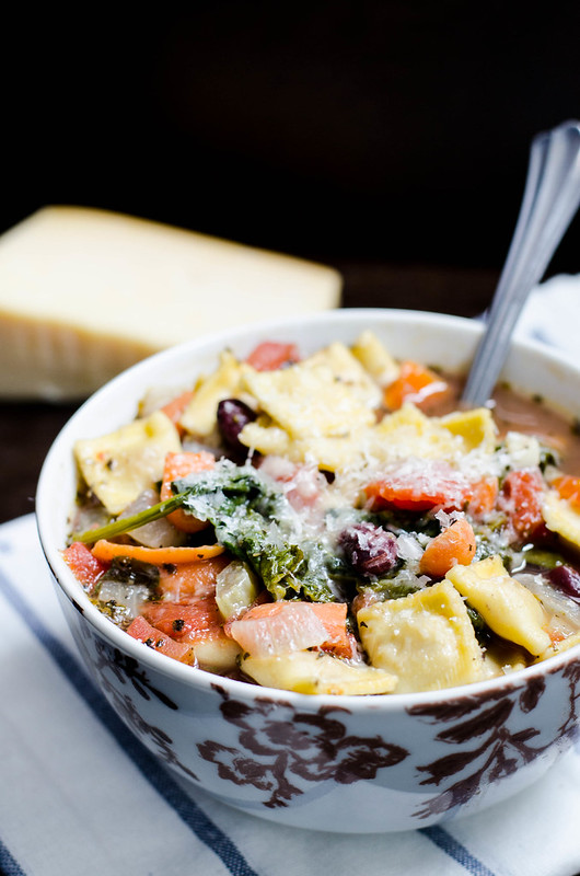 Vegetable Ravioli Soup | cookingalamel.com
