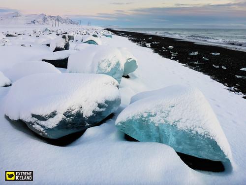Ice Blocks with Snow