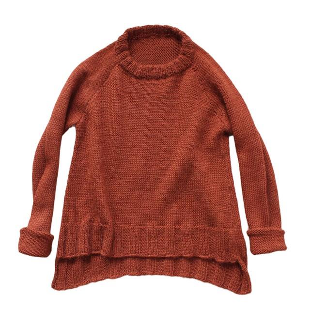russet sweater / wool alpaca