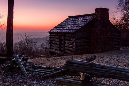 chimney sun mountains rural sunrise fence landscape virginia cabin rustic logcabin va parkway appalachian appalachia blueridgemountains blueridgeparkway blueridge appalachianmountains southwestvirginia swva smartview