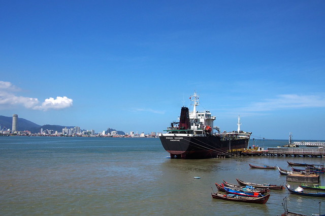 view from the ferry from Butterworth to Georgetown, Penang