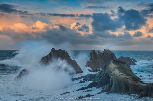 sunset sea españa clouds mar spain tormenta storms olas santander cantabria cantabrico liencres pielagos greatphotographers cazurro cantabric costaquebrada