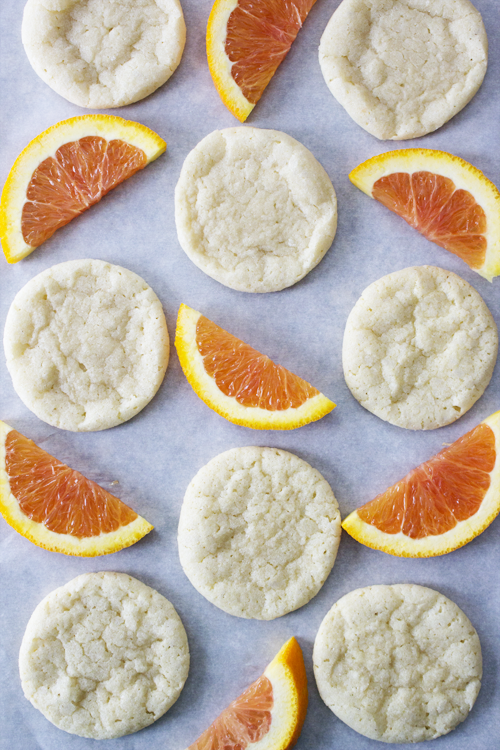 Cara Cara Orange Sugar Cookies {sosweetlikesarah.com}