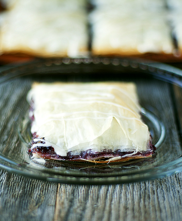 phyllo breakfast pastries with homemade (10 minute)  strawberry jam