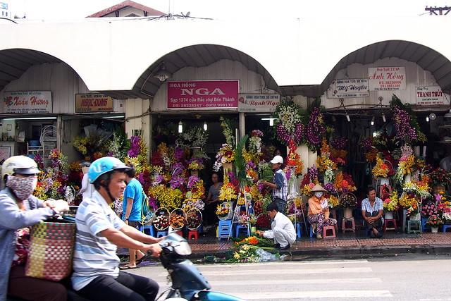 flowers, Ben Thanh Market, Ho Chi Minh City (Saigon), Vietnam