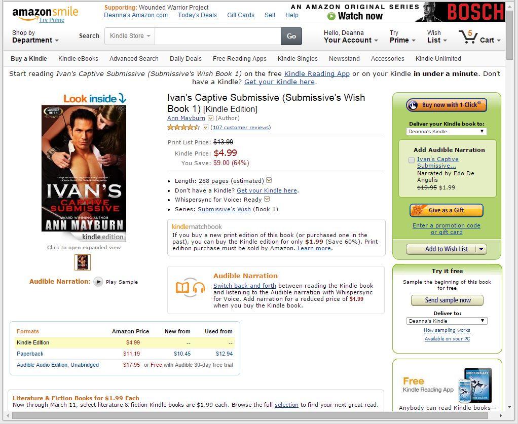 Deanna's World: Audible audiobooks on Kindle - listening to