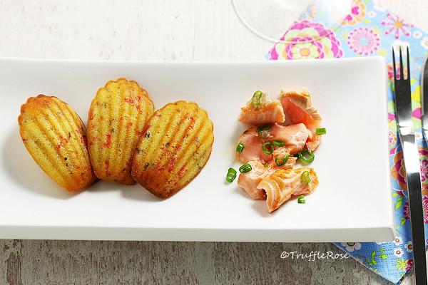 燻鮭魚、奶油起司與紅洋蔥瑪德蓮-20160305