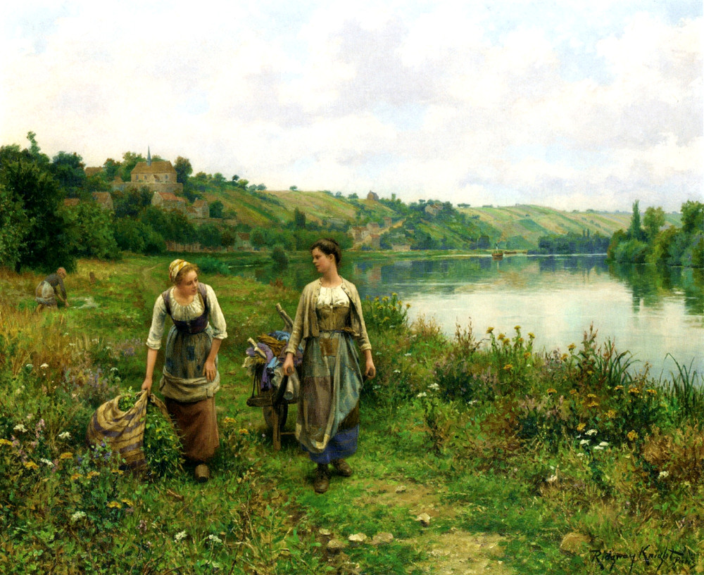 The Seine at Vernon by Daniel Ridgway Knight