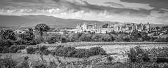 Panorama de la Cité de Carcassonne, dans l'Aude...