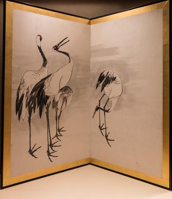 Nagasawa Rosetsu, Family of Cranes, c. 1787, MIA