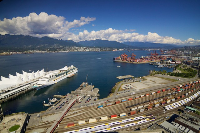 Today in Vancouver: Boats, Cranes and Trains