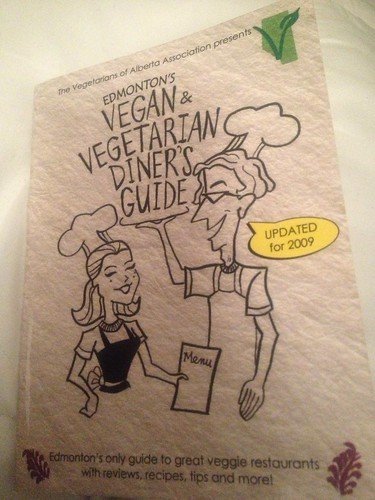 the Vegan & Vegetarian Diners Guide from 2009