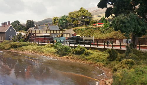 Train passing through Dolgellau
