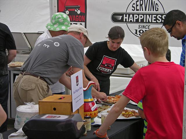 2013 Linden Hills Festival red wagon