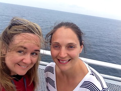 Beth & Alicia, on the ferry