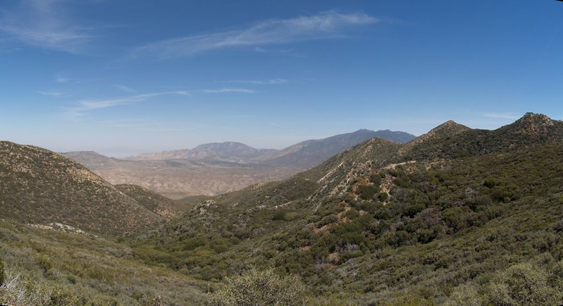 Looking southeast toward the desert from the PCT high above Live Oak Spring