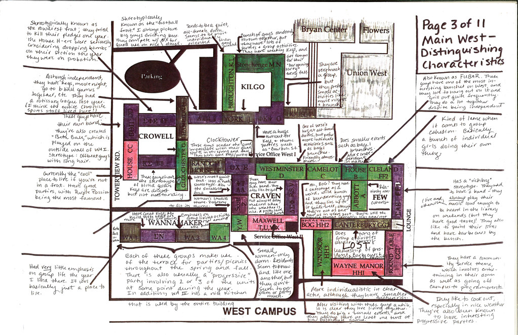 Campus Map Fau.West Campus Map A Color Coded Guide To Duke Living Group Flickr