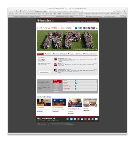 RPI Alumni Social Action Stream