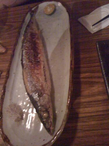 香烤秋刀魚 ($100)@台北大村武串燒居酒屋
