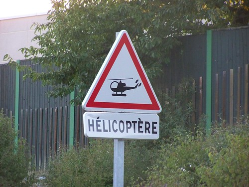 Warning, helicopter