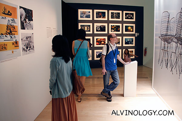 Visitors going through the various exhibits
