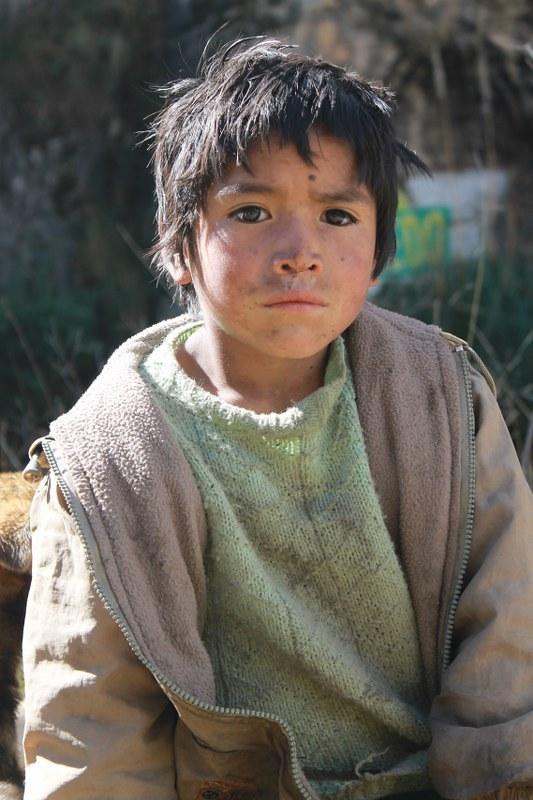 Young shepherd near Huallanca