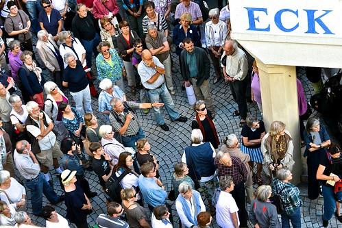 Corner crowd