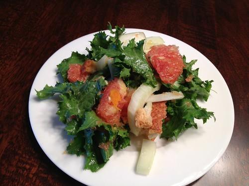 Fennel and Orange Salad with Lemon-Ginger vinaigrette Amy
