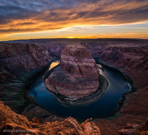Horse Shoe Bend Sunset - Nikon D300
