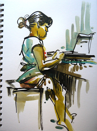Piano Practice,San Jose, California