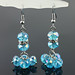 Small photo of De chique Blue Crystal + diamanten oorbellen